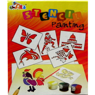 Awals New Stencil Painting Kit - DIY Activity Kit for Kids
