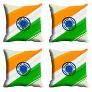 meSleep  Republic Day Chakra Cushion Cover (16x16) -EV-10-REP16-CD-003-04