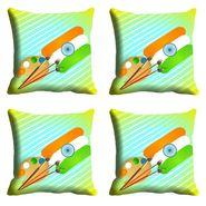 meSleep India Republic Day Cushion Cover (16x16) -EV-10-REP16-CD-009-04