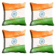 meSleep Multi India Republic Day Cushion Cover (16x16) -EV-10-REP16-CD-015-04