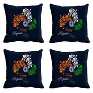 meSleep Black Happy Republic Day Cushion Cover (16x16) -EV-10-REP16-CD-028-04