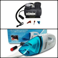 Combo of Vacuum cleaner Blue + air compressor