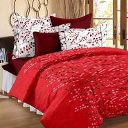 Bedspun 100% Cotton Double Bedsheet With 2 Pillow Cover-FR1407