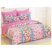 Bedspun 100% Cotton Double Bedsheet With 2 Pillow Cover-FR1411