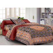 Storyathome 100% Cotton Single Bedsheet with 1 Pillow Cover-FY1122