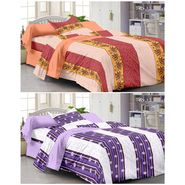 Set of 2 Single Bedsheet with 2 Pillow Cover-1220-1223