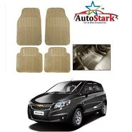 AutoStark - Premium Quality Beige Rubber Car Foot Mat For - Chevrolet UVA