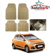 AutoStark - Premium Quality Beige Rubber Car Foot Mat For - Hyundai I10 Grand