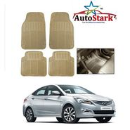 AutoStark - Premium Quality Beige Rubber Car Foot Mat For - Hyundai Verna Fluidic 4s