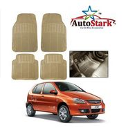 AutoStark - Premium Quality Beige Rubber Car Foot Mat For - Tata Indica