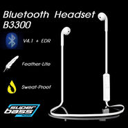 Gadget Hero's Sports Wireless Bluetooth Headset Headphone Earphone For Mobile Phone PC Tablet B3300 Black