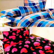 Valtellina Multicolor Design Print 2 Double bedsheet & 4 Pillow covers-GLO-01-03