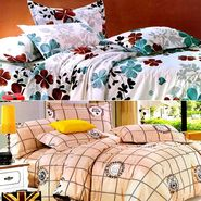 Valtellina Multicolor Design Print 2 Double bedsheet & 4 Pillow covers-GLO-07-08
