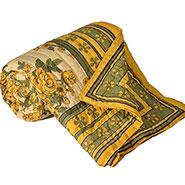 Little India Designer Printed Cotton Double Bed AC Quilt - Multicolor