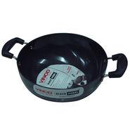 Vinod Cookware Black Pearl  22CM Deep  Kadai Without Lid   HADKWL22