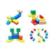 42 Pcs Coloured Wooden Digital Blocks Learning Game For Kids