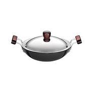 Hawkins Futura HA Deep-Fry Pan with SS Lid 2.75L - Black