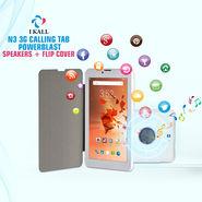 I Kall N3 3G Calling Tab Powerblast Speakers + Flip Cover