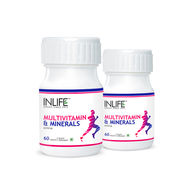 INLIFE Multi Vitamin And Minerals, 2 Pack 60 Tablets Each With Biotin For Men & Women