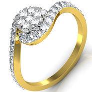 Avsar Real Gold & Swarovski Stone Maya Ring_I052yb