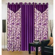 IWS Set of 3 Designer Door curtains-Multicolor- RNG-c01-374