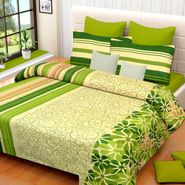 IWS Cotton Printed Double Bedsheet with 2 Pillow Covers-IWS-CB-1014