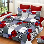IWS Cotton Printed Double Bedsheet with 2 Pillow Covers-IWS-CB-485