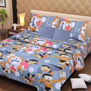IWS Kids Cotton Printed Double Bedsheet with 2 Pillow cover IWS-CB-67
