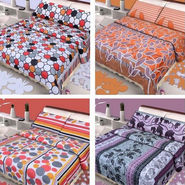 Set of 4 Vastu Designer 100% Cotton Double Bedsheets