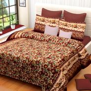 IWS Printed  Double Bedsheet with 2 Pillow Covers-IWS-NPrinted-03