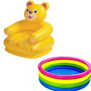 Intex Combo of Teddy Chair and Baby Swimming Pool