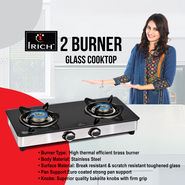 Irich 2 Burner Glass Cooktop