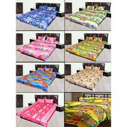 JBG Branded 8 Kids Cotton Double Bed Sheet with 16 Pillow Cover-Multicolor