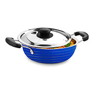 Cookaid Kadai with Lid - Blue