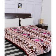 Amore Designer Printed Double Bed Fleece Blanket-KDO11