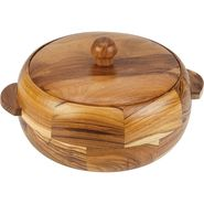 Kvg Wooden Casserole Nova, 1300 Ml, Round, Dark-Brown