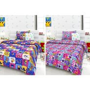 Set Of 2 Single Kids Bedsheet With 2 Pillow Cover -1403-1404