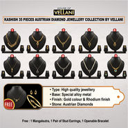 Kashish 35 Pieces Austrian Diamond Jewellery Collection by Vellani