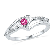 Kiara Swarovski Zirconia Sterling Silver Ring - Pink - KIR0322