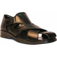 Kohinoor Faux Leather Sandal - Black
