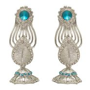 Kriaa Austrian Stone Earrings - Blue _ 1302208