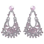 Kriaa Austrian Stone Earrings - Pink _ 1302218