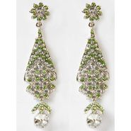 Kriaa Austrian Stone Earrings - Green _ 1302309