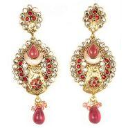 kriaa Austrian Stone Drop Earrings - Pink _ 1300419