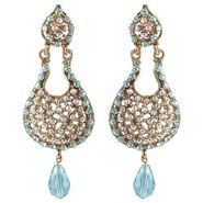 Kriaa Austrian Drop Earrings - Blue _ 1300904
