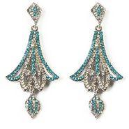 Kriaa Austrian Diamond Earrings - Blue _ 1301311