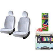 Latest Car Seat Cover for Tata Indigo eCS - White