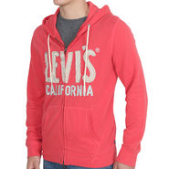 Levis Plain Full Sleeve Hood Jacket_LsRed - Red