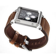 Gadget Multi-Touch Watch Band Case - Silver Body & Brown Belt