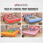 Pack of 4 Digital Print Bedsheets (4DDBS1)